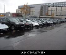 Parking incroyable aux abords des ateliers de maintenance