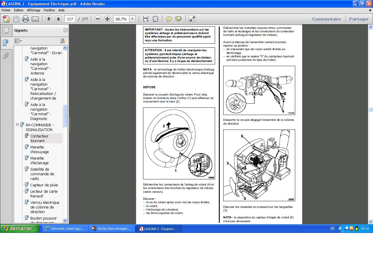 forum renault laguna d monter volant laguna 2 electricit accessoires forum renault laguna. Black Bedroom Furniture Sets. Home Design Ideas