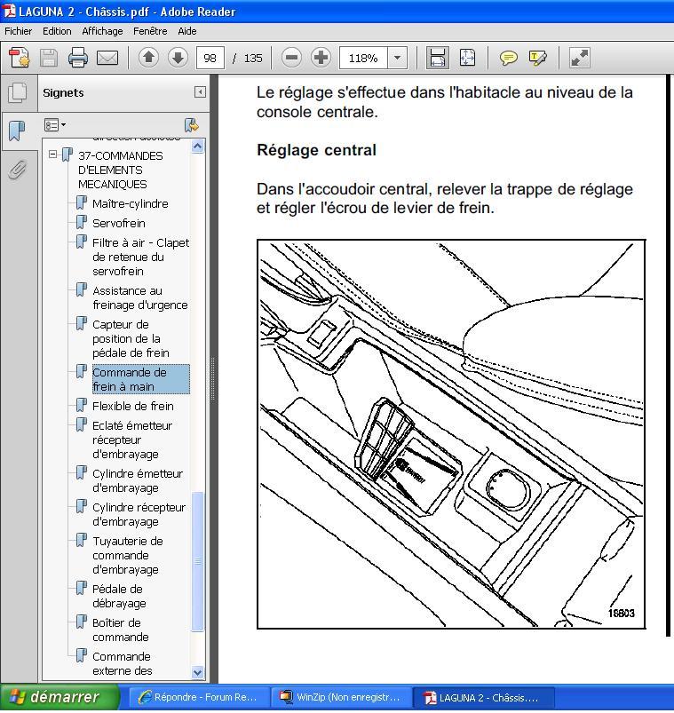 Forum renault laguna r solu comment serrer le frein main m canique hors moteur - Comment se couper le frein du gland ...